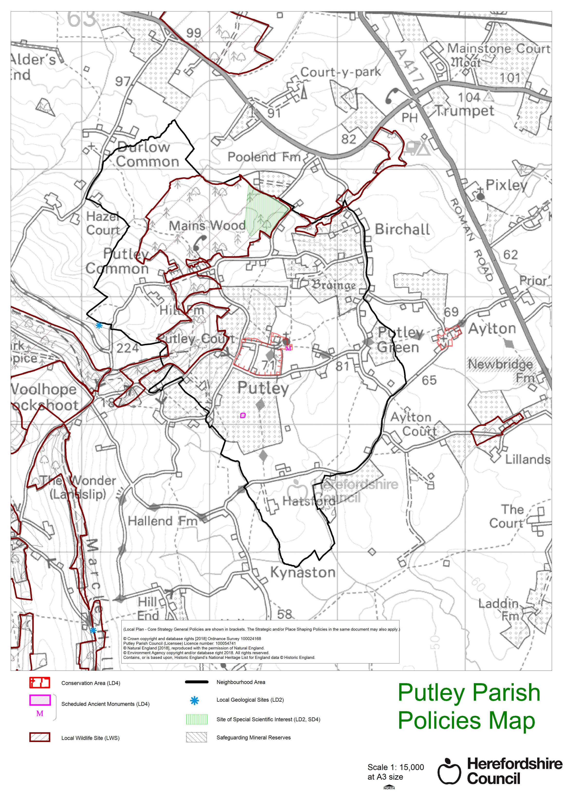 Putley Parish Policies Map