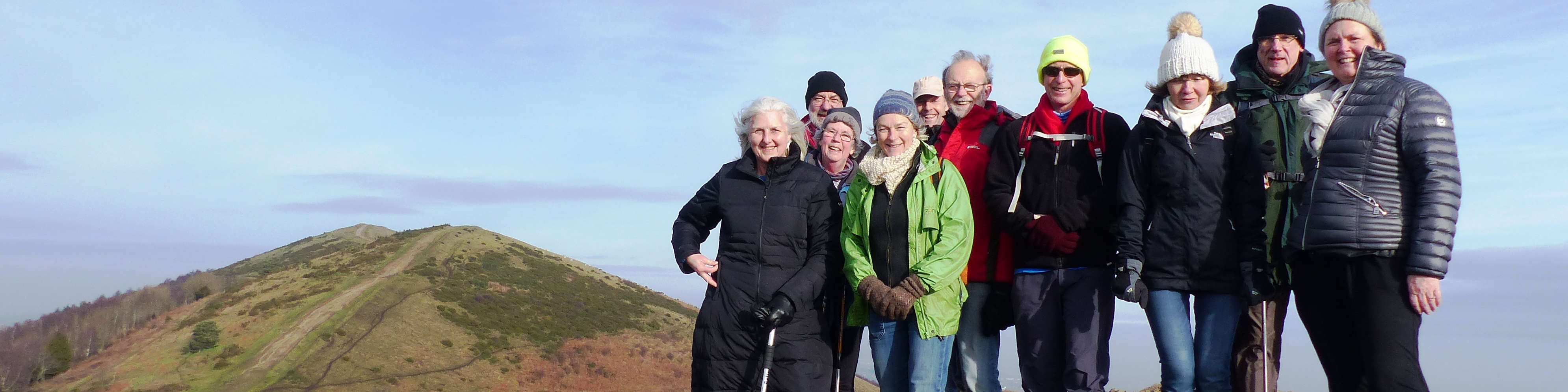 Walking group on the Malvern Hills